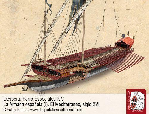La galera en el siglo XVI por Marcel Pujol Hamelink – Escola Superior de Conservació i Restauració de Béns Culturals de Catalunya