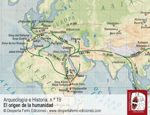 El humano viajero. Homo erectus y otros humanos antiguos fuera de África por Karen L. Baab (Midwestern University)