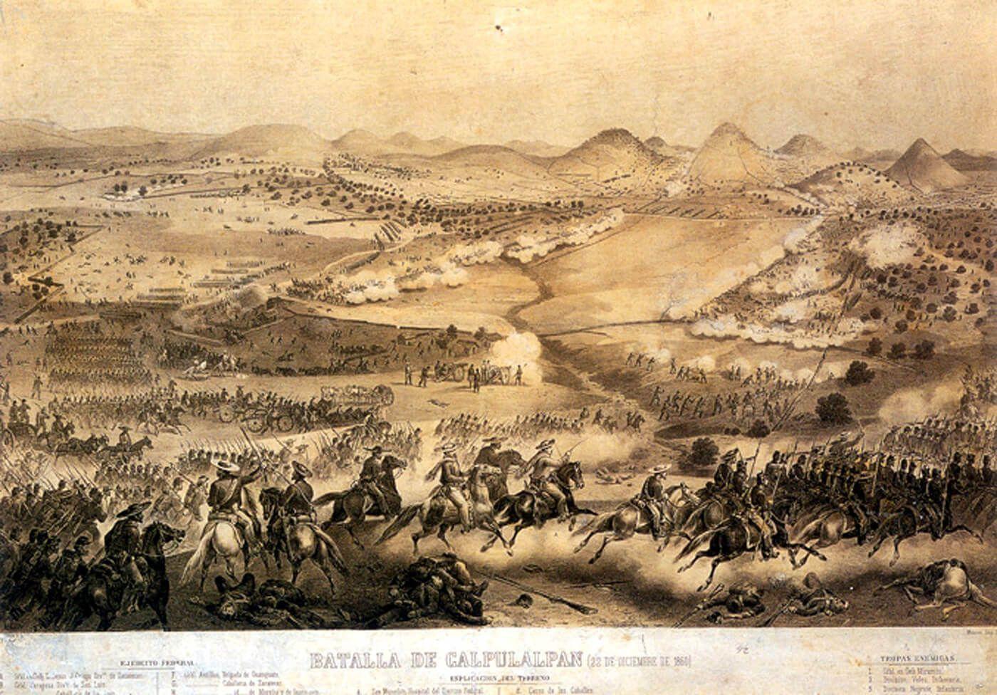 batalla de Calpulalpan Guerra de Reforma de México