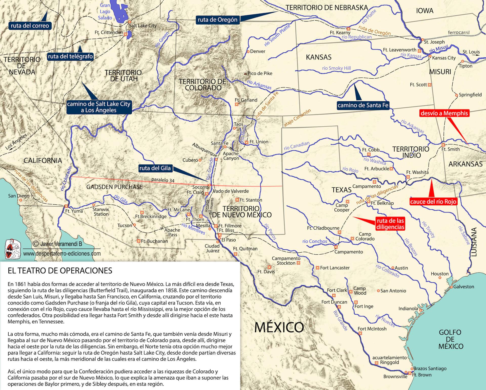 Imperio confederado en el río grande Guerra de Secesión
